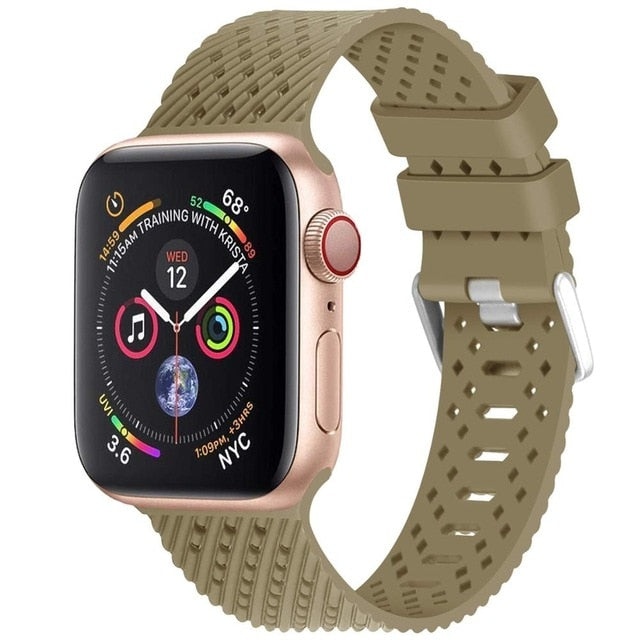 Brick - Rhombus Texture Silicone Sport Strap for Apple Watch Series, 5, 4, 3, 2, 1
