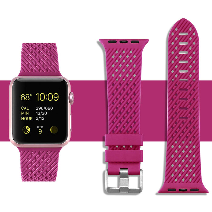 Rhombus Texture Silicone Apple Watch Band 38mm/40mm 42mm/44mm