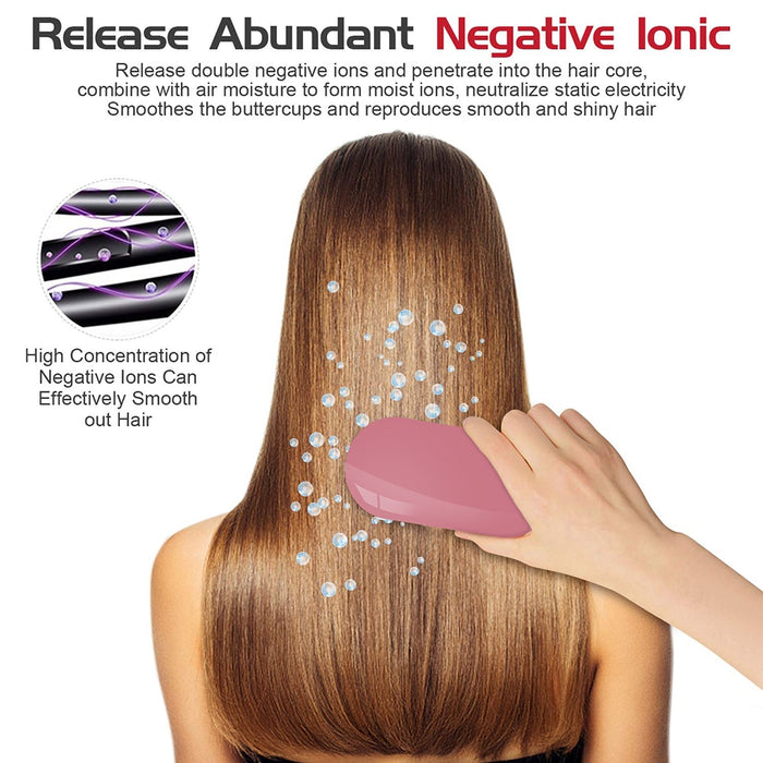 Double Ions Hairbrush release abundant negative ions to hair core