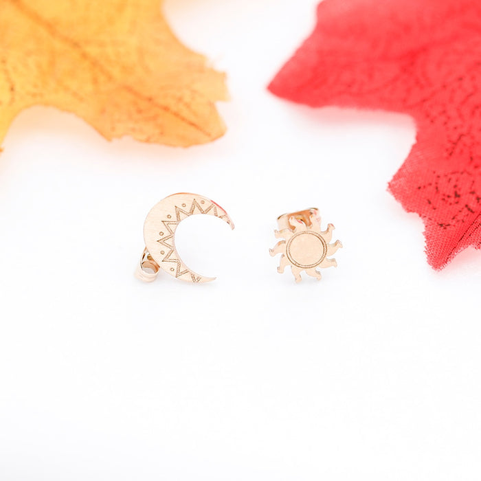 Sun & Moon Earrings - cloverbliss.com