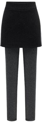 Comfortable Warm Fleece Skirt Leggings [Plus Size Available] - cloverbliss.com