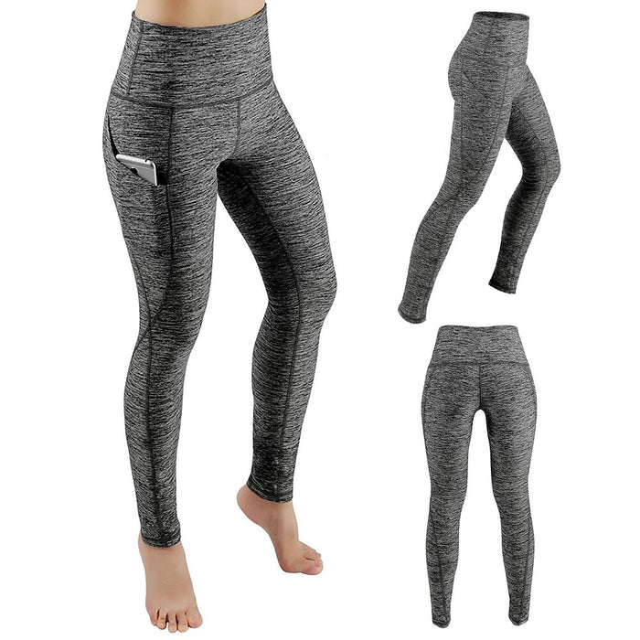 High Waisted Side Pocket Solid Sport Leggings - cloverbliss.com