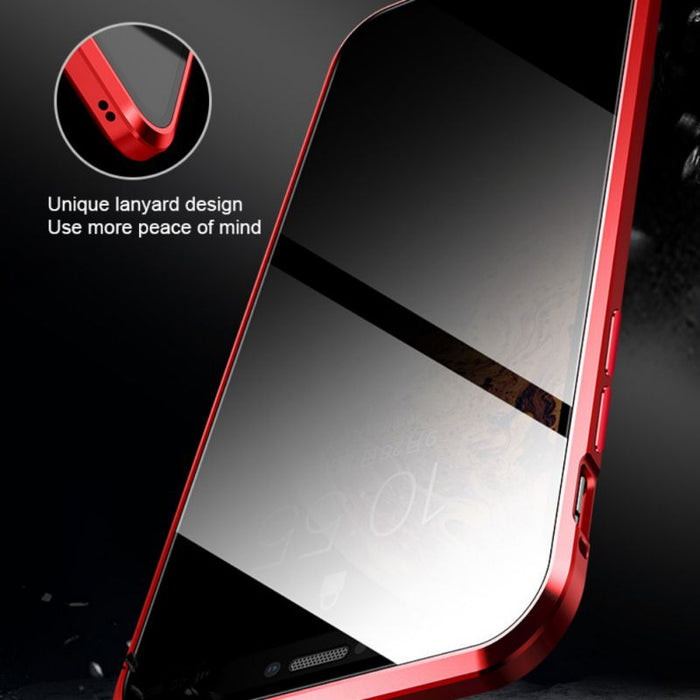 Magnetic Tempered Glasses iPhone Case - cloverbliss.com