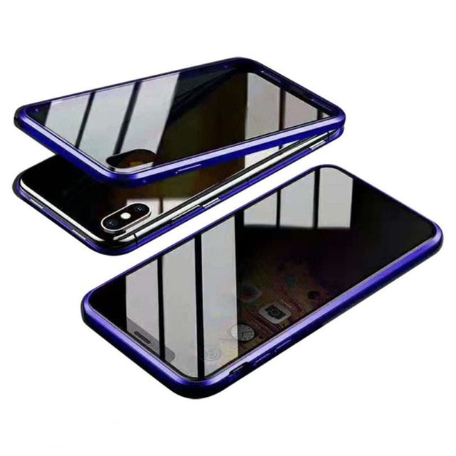 Magnetic Tempered Glasses iPhone Case
