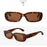 Retro Rectangle Sunglasses - Classic Leopard Shades