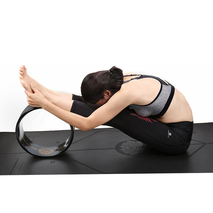 Black Yoga Wheel - cloverbliss.com