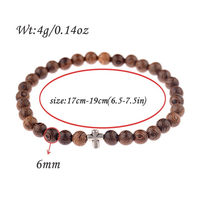 Natural Stone Blessed Charm Yoga Bracelets