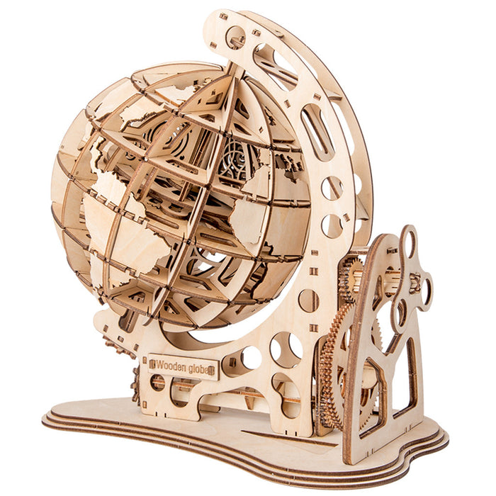 Mechanical Globe Wooden Puzzle