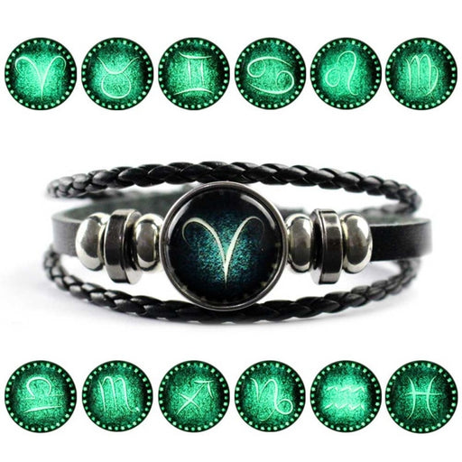 Zodiac Leather Bracelet On Sale