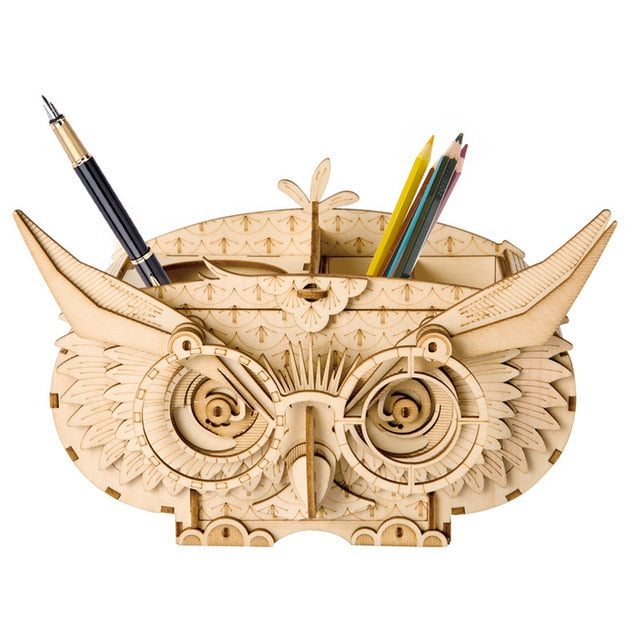 3D Wooden Puzzles - Owl, Eiffel Tower, Vintage Camera, Piano, & More