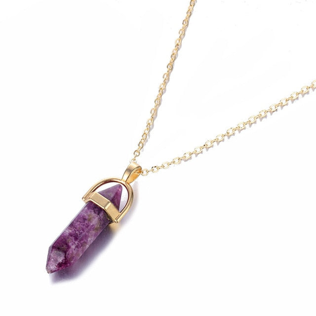Quartz Bullet Necklaces - cloverbliss.com