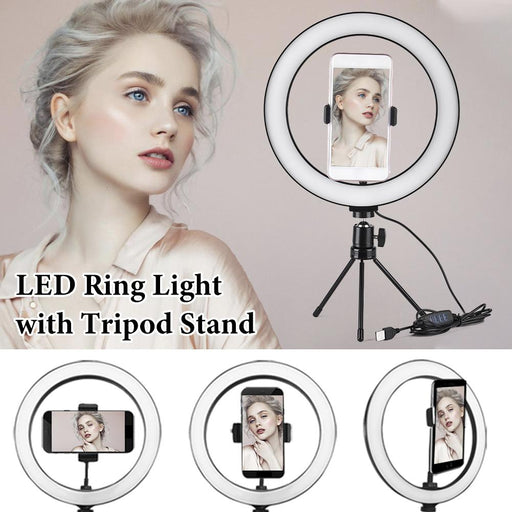 LED Ring Light with Tripod Stand - cloverbliss.com