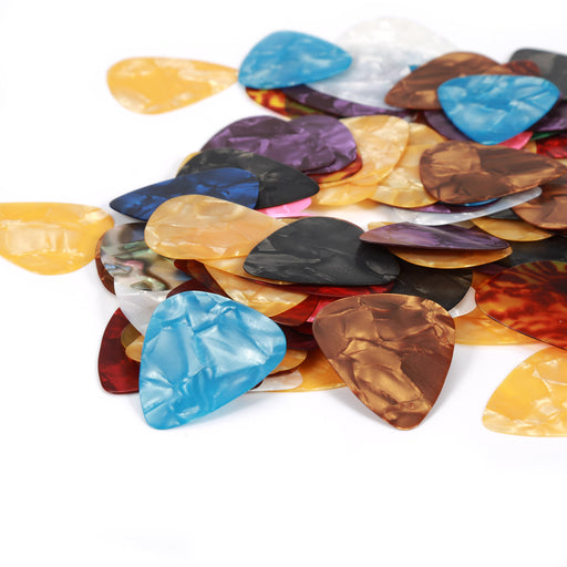 100pcs Celluloid Acoustic Guitar Picks