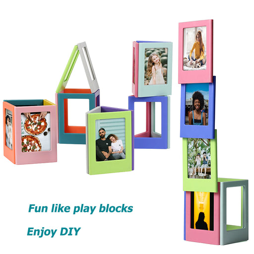 20 / 30 / 50 PCS Assorted Color Magnetic Photo Frames - cloverbliss.com