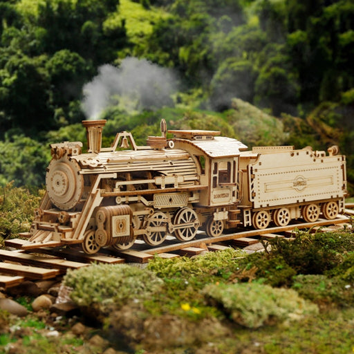 Steam Express Train Puzzle - cloverbliss.com