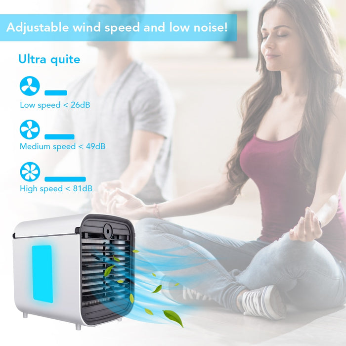 All-in-One USB Fresh Air Cooler + Purifier + Humidifier + Diffuser
