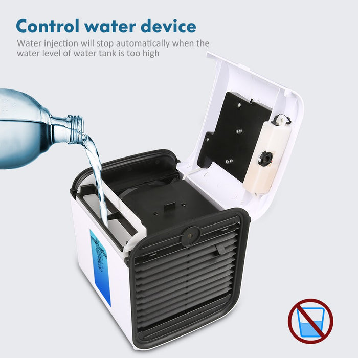 Mini USB Air Purifier with Humidifier and Cooling Fan (Detachable & Washable Filter)