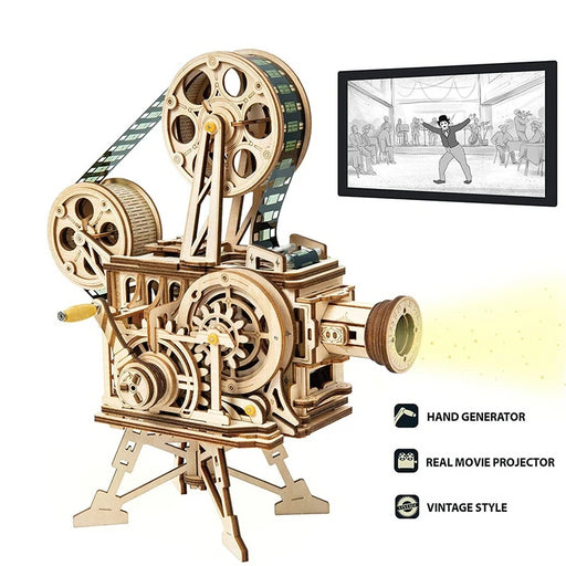 Film Projector Wooden Puzzle - cloverbliss.com
