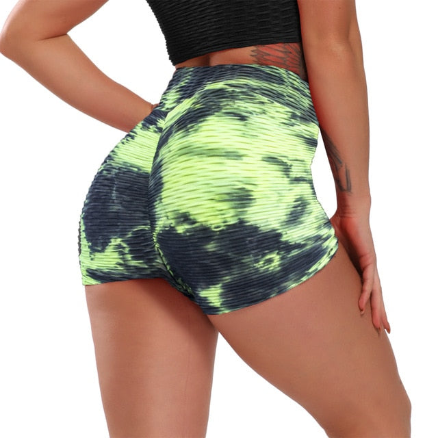 High-Waisted Push-up Sport Shorts