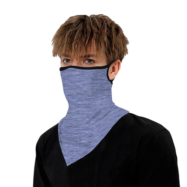 Plain Color Cycling Breathable Face Scarf Bandanas