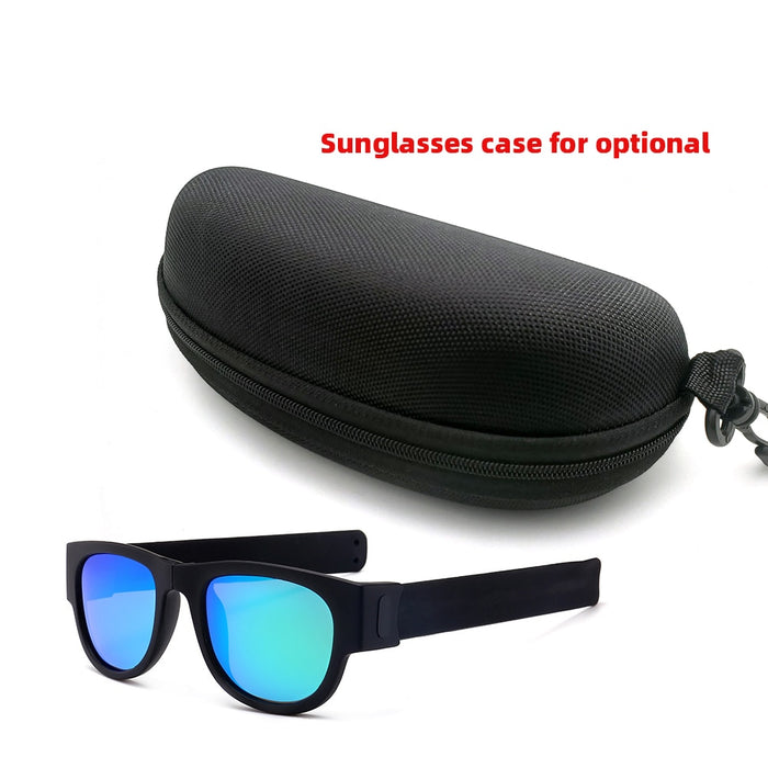 Polarized Mirrored Lens Shapeable Slap-on Sunglasses - cloverbliss.com