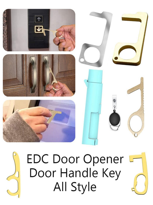 2PCS Antimicrobial Brass EDC Door Opener & Stylus - cloverbliss.com