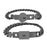 1 Pair Heart and Square Concentric Lock Key Titanium Steel Couple Chain Bracelet On Sale