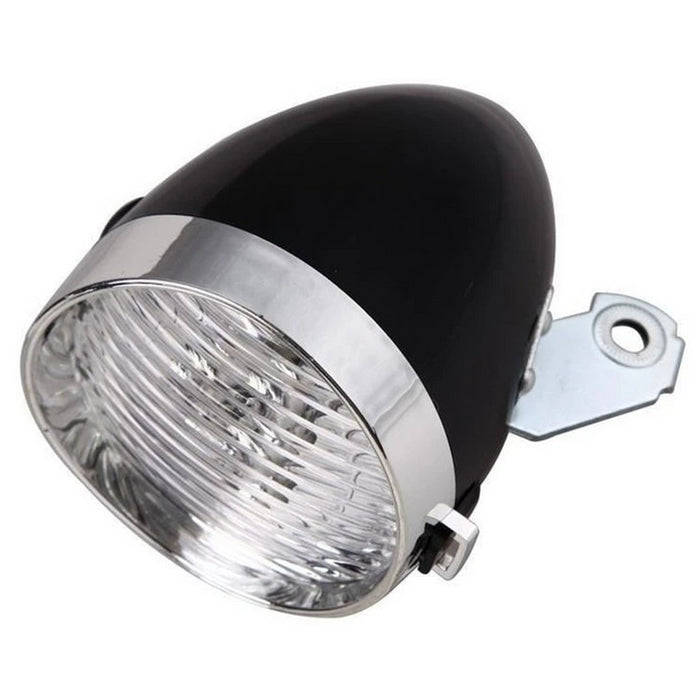 LED Bicycle Retro Headlamp Light - Black