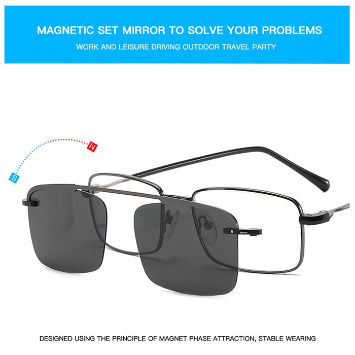SALE 2 in 1 Lightweight Myopic Sunglasses With Magnetic Set Mirror