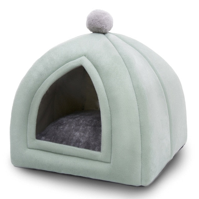 Foldable Soft Winter Cat or Puppy Tent Bed