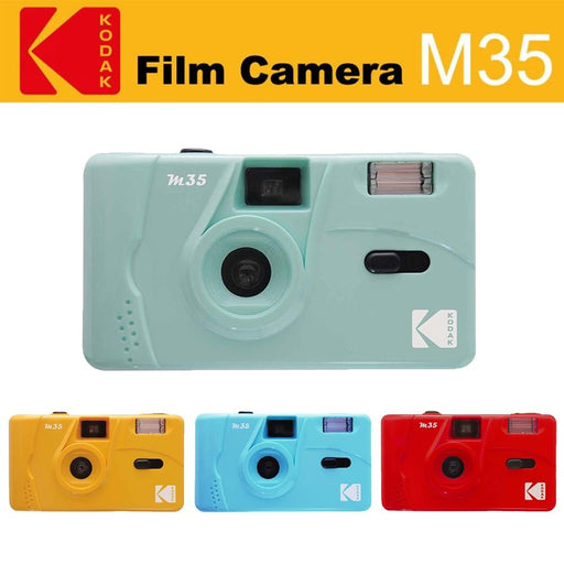 Kodak Vintage Retro M35 Reusable Film Camera (Mint Green/ Yellow / Red/ Blue)