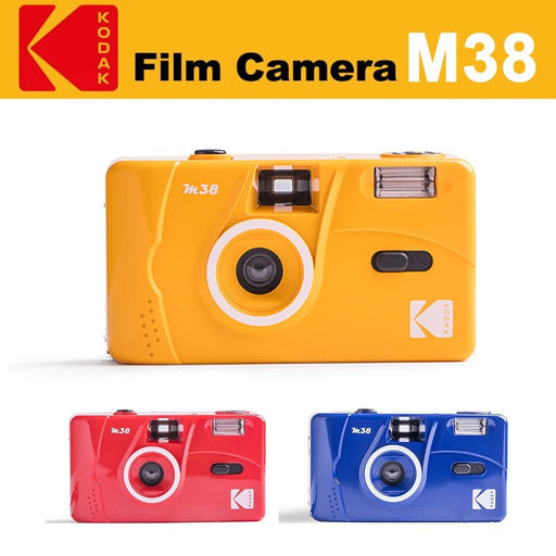 KODAK Vintage Retro M38 Reusable Film Camera (Yellow / Red/ Blue)