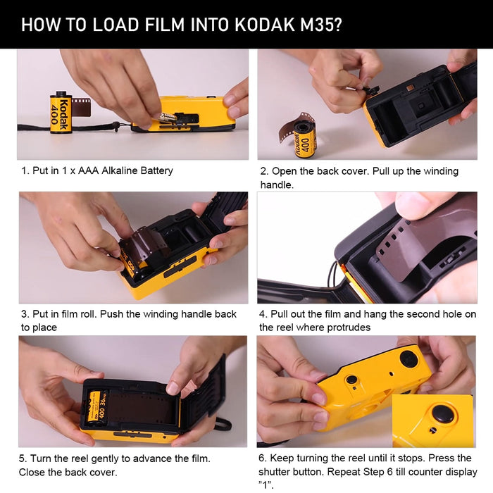 How to load film into KODAK camera?