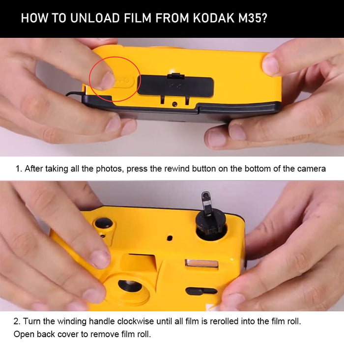 How to load film from KODAK camera?