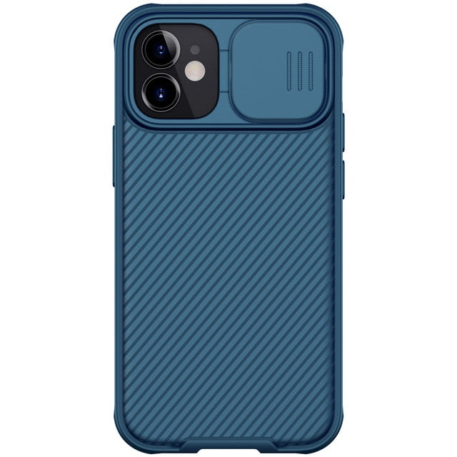 Blue iPhone Case With Camera Cover For iPhone 12, 12 Mini, 12 Pro, 12 Pro Max