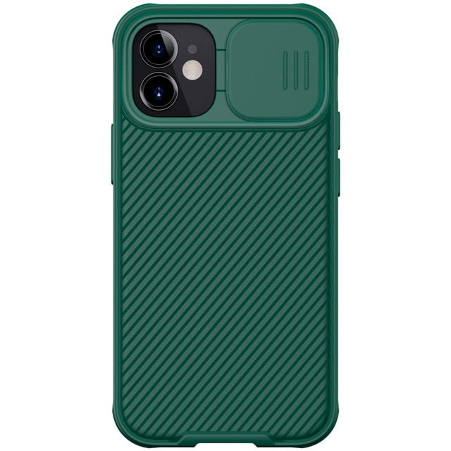 Green iPhone Case With Camera Cover For iPhone 12, 12 Mini, 12 Pro, 12 Pro Max