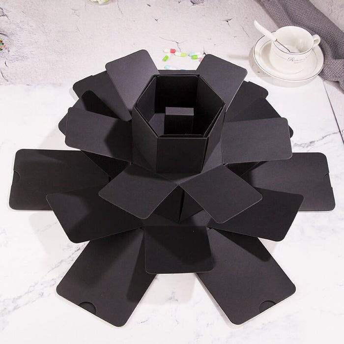 Stylish Surprise Explosion Gift Box In Black On Sale