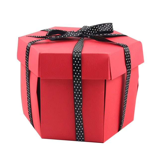 Stylish Surprise Explosion Gift Box In Red On Sale