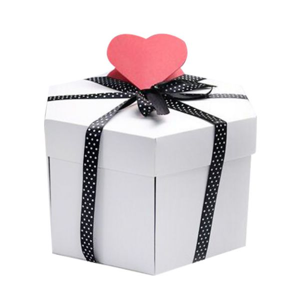 Stylish Surprise Explosion Gift Box In White On Sale