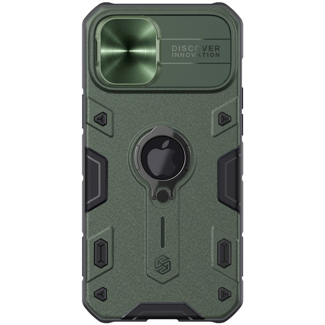 Military Green iPhone Case With Camera Cover For iPhone 12, 12 Mini, 12 Pro, 12 Pro Max
