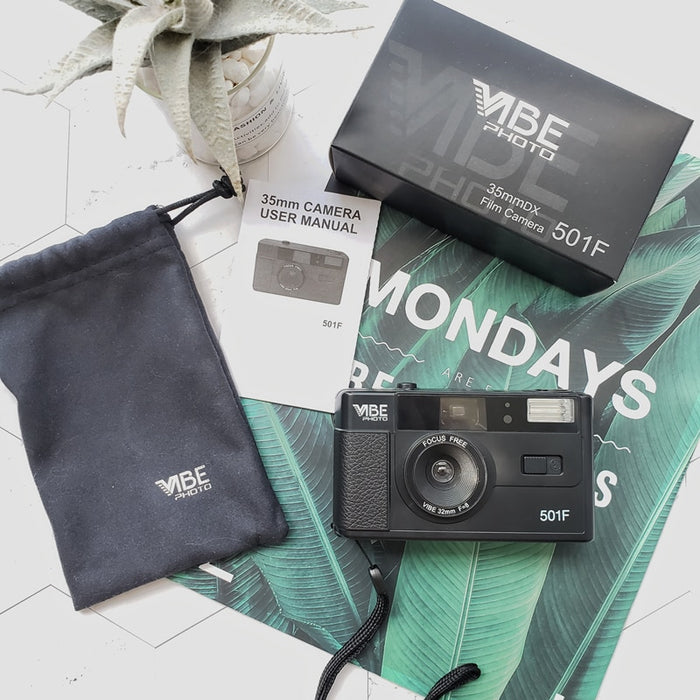 Vibe Photo 501F 35mm DX Film Camera with Kodak UltraMax 400 Film Bundle On Sale