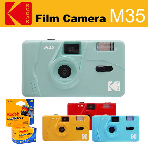 KODAK Vintage Retro M35 Reusable Film Camera Kodak UltraMax Film ( 1 Roll - 3 Roll ) Bundle On Sale