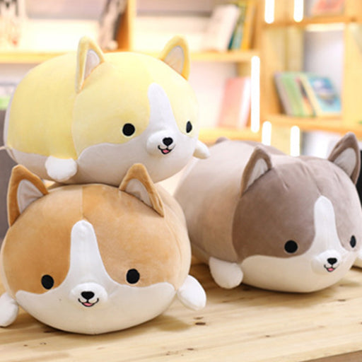 Soft Corgi Dog Plush Doll