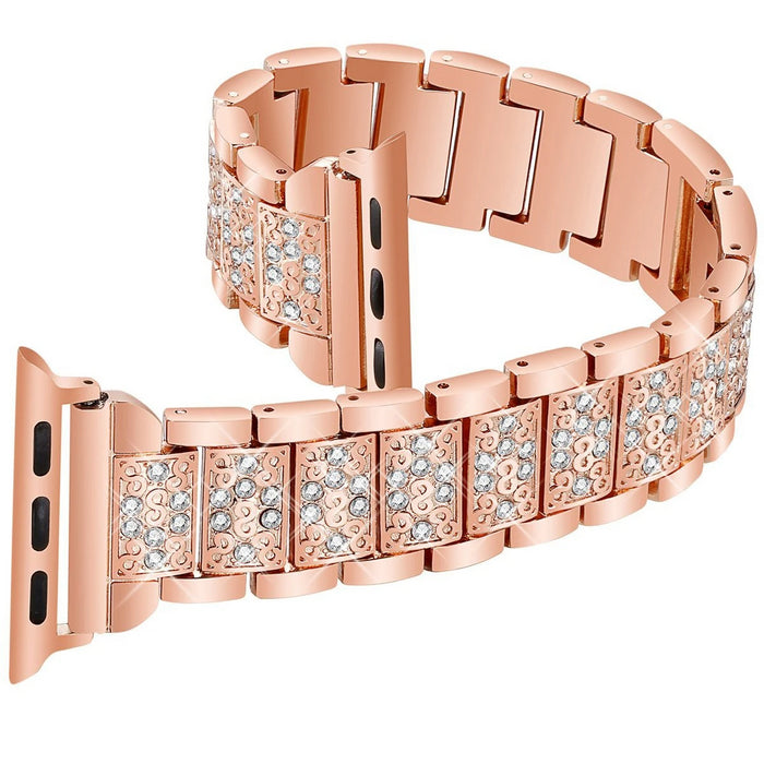 Diamond Rose Gold Strap for Apple Watch Band On Sale