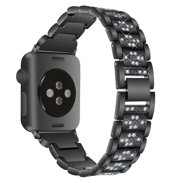 Diamond Black Strap for Apple Watch Band On SaleStrap for Apple Watch Band On Sale