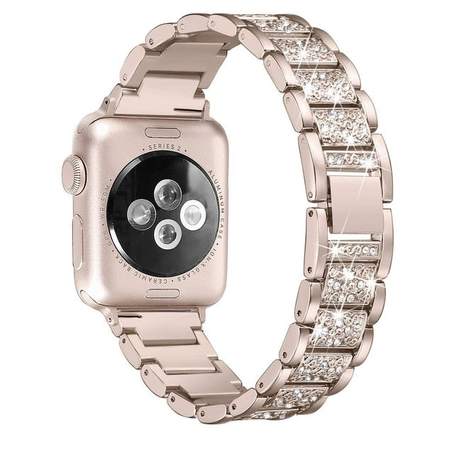 Diamond Retro Gold Strap for Apple Watch Band On Sale