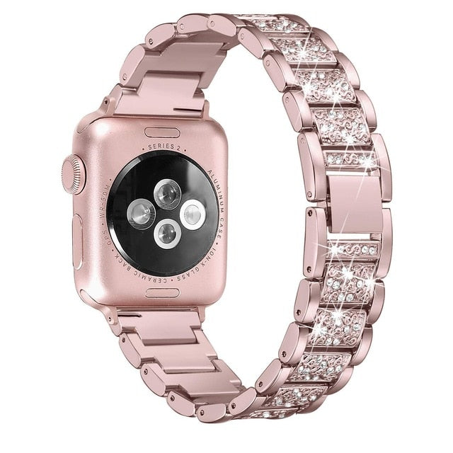 Diamond Rose Pink Strap for Apple Watch Band On Sale