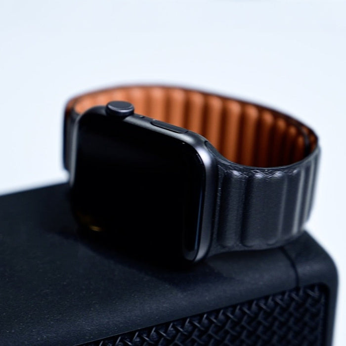 Leather Link Magnetic Loop Apple Watch Band 38mm/40mm 42mm/44mm