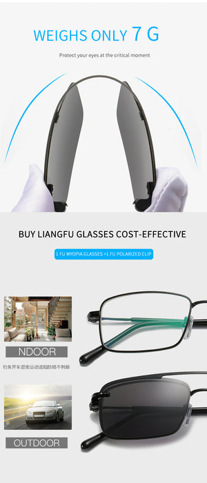 2 in 1 Lightweight Myopic Sunglasses With Magnetic Set Mirror