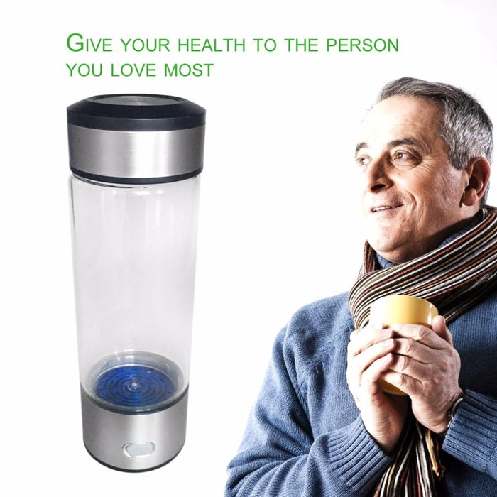 [NEW] Hydrogen Rich Ionizer Glass Water Bottle | Boost Anti-Aging - cloverbliss-co